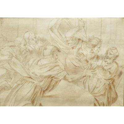 Spada Lionello dessin sepia pour la gravure  de Mulinari Stefano; de la galerie de florence 1794 filigrane quartino