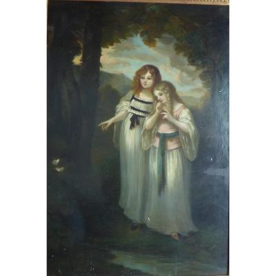 Huile Sur Toile école Anglaise Pré Raphaelique