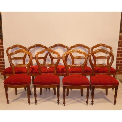Suite Nine Chairs Louis-philippe