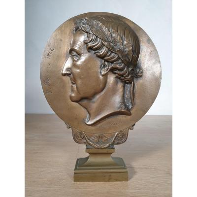 Médaillon En Bronze - 1864 - Jacques Marie Chevalier - Portrait De Rossini