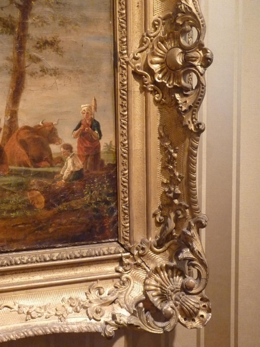 Berré Jean Baptiste (1777-1838), Cows In Pasture, Oil On Canvas, 1835-photo-6