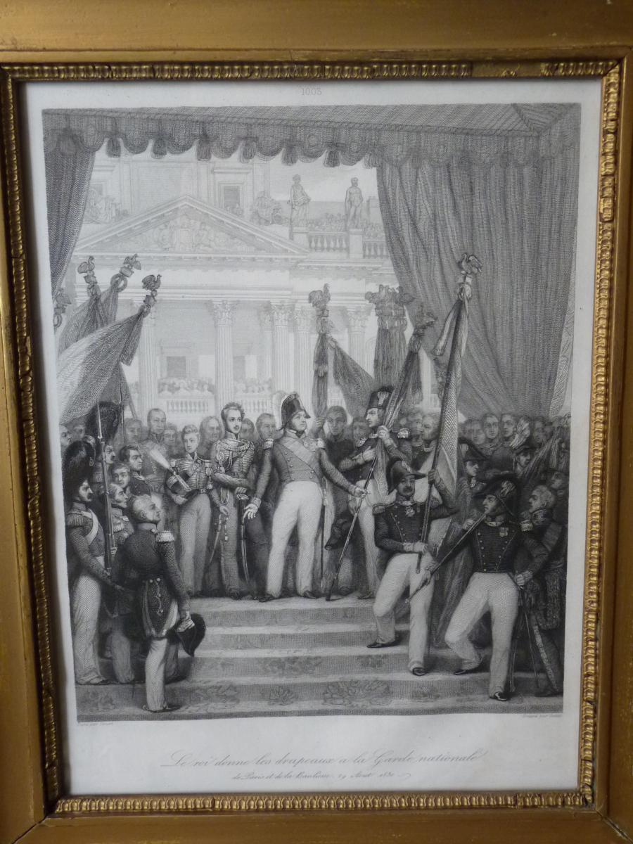 Joseph Désiré Court (1797-1865), Louis-Philippe donnant les drapeaux à la Garde Nationale