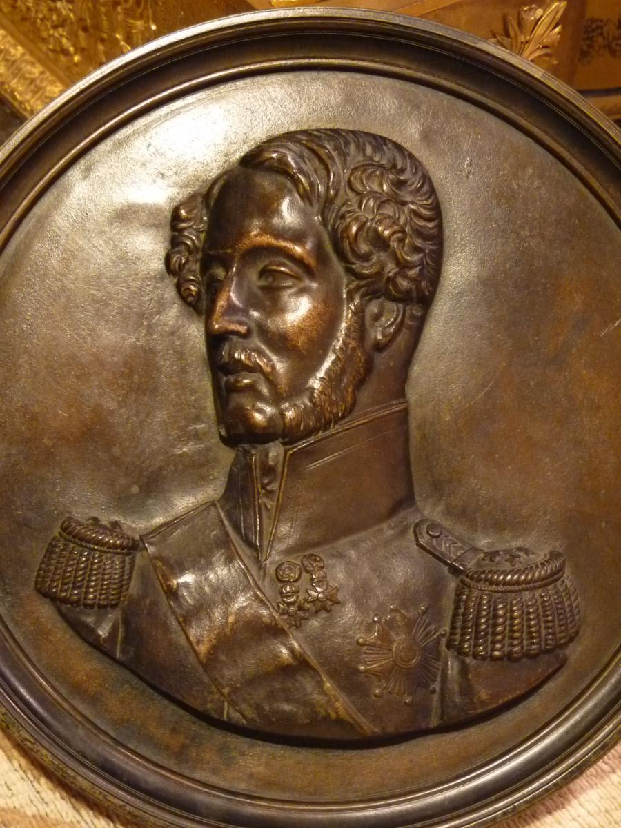 James Pradier (1790-1852) Portrait Du Duc d'Orléans, Bronze Simonet Fondeur