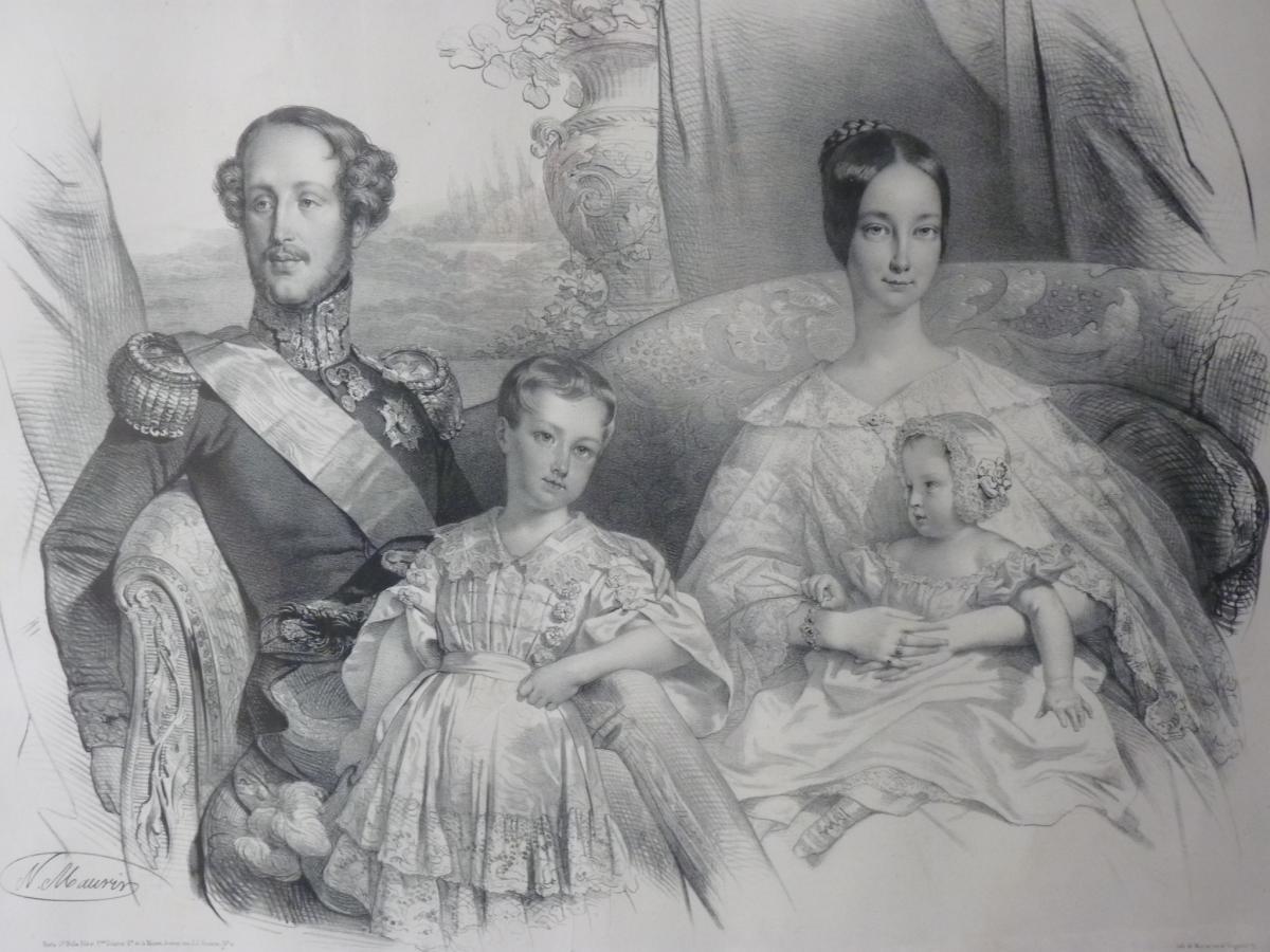 Nicolas Maurin (1799-1850), Duc d'Orléans Et Sa Famille, époque Louis-Philippe