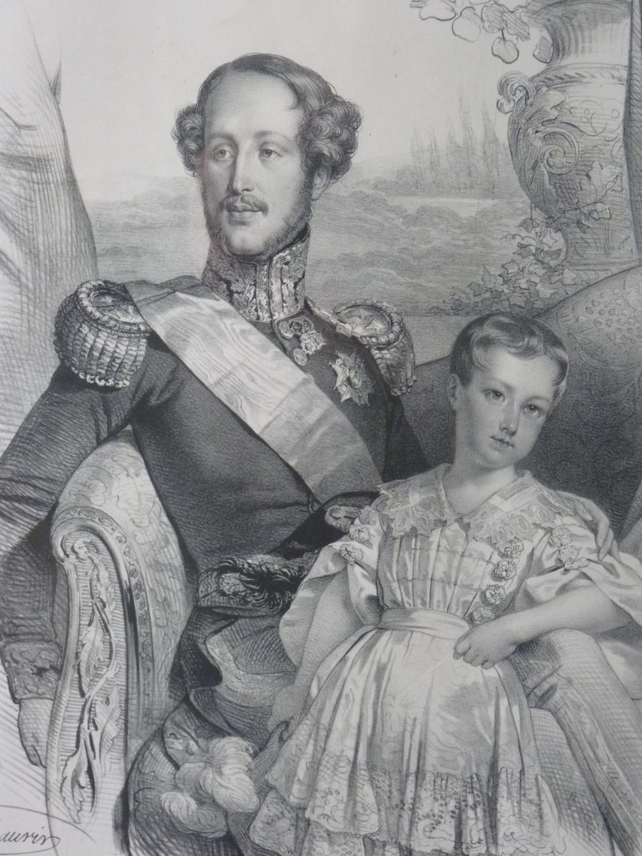 Nicolas Maurin (1799-1850), Duc d'Orléans Et Sa Famille, époque Louis-Philippe-photo-2