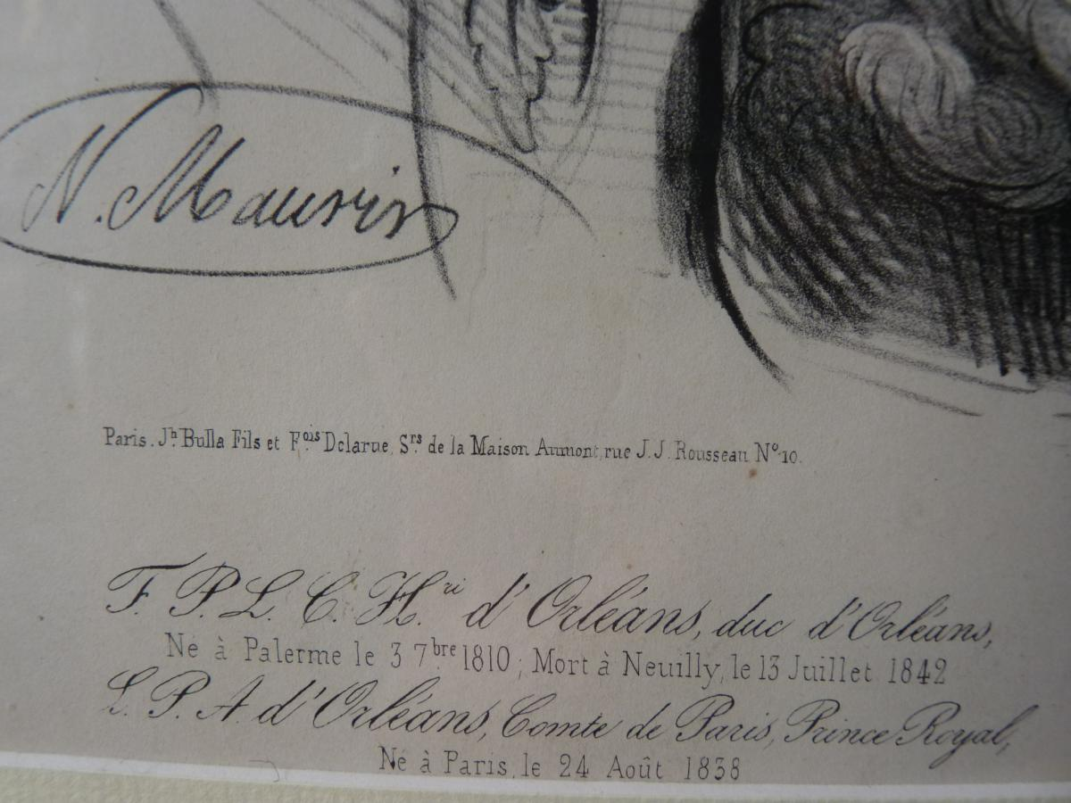 Nicolas Maurin (1799-1850), Duc d'Orléans Et Sa Famille, époque Louis-Philippe-photo-3