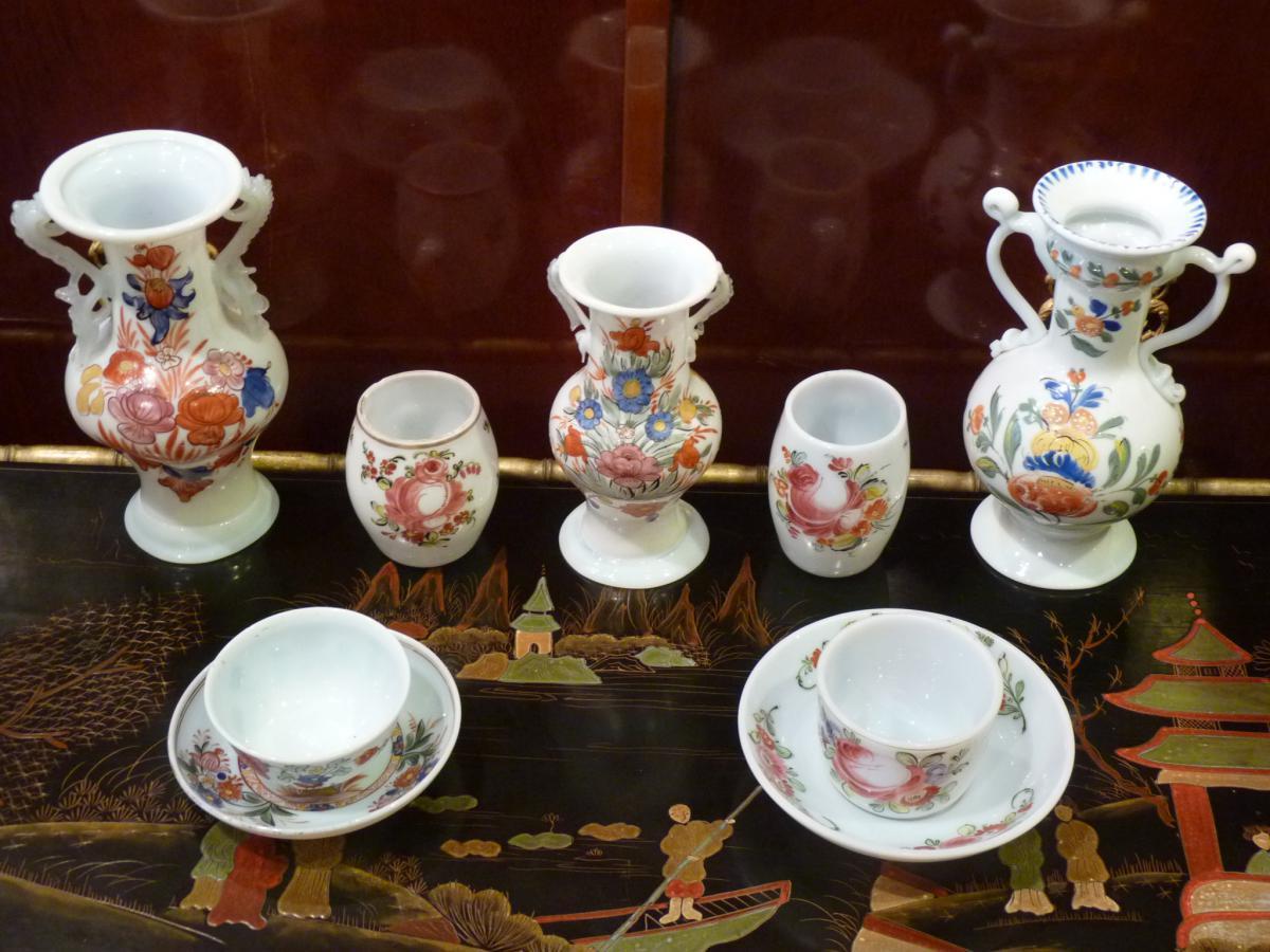 Vase d cor de fleurs opaline allemagne 18 me si cle for Decoration 18eme siecle