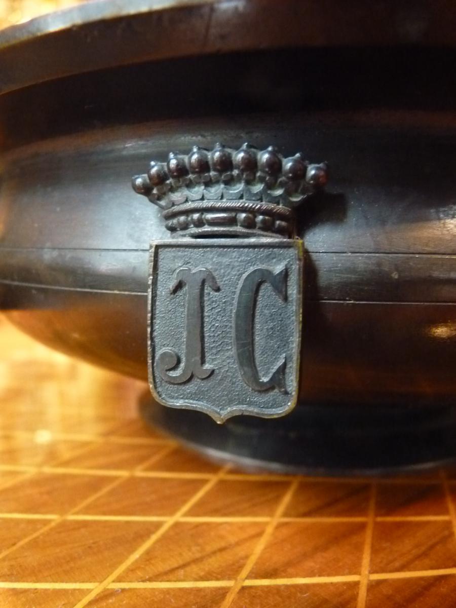 Encrier Neoclassique à l'éphèbe, Bronze, époque Napoléon III-photo-6