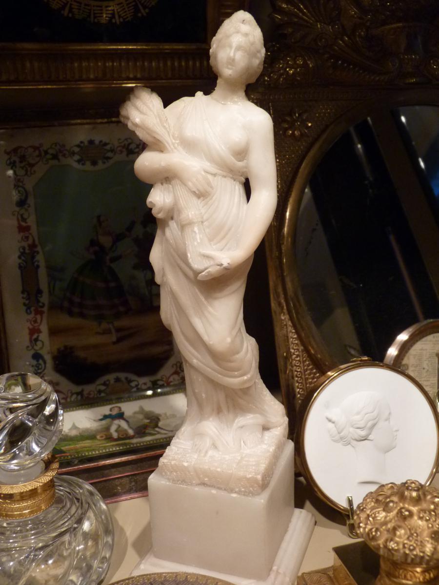 Sculpture De Cérès, Albatre, 19ème Siècle