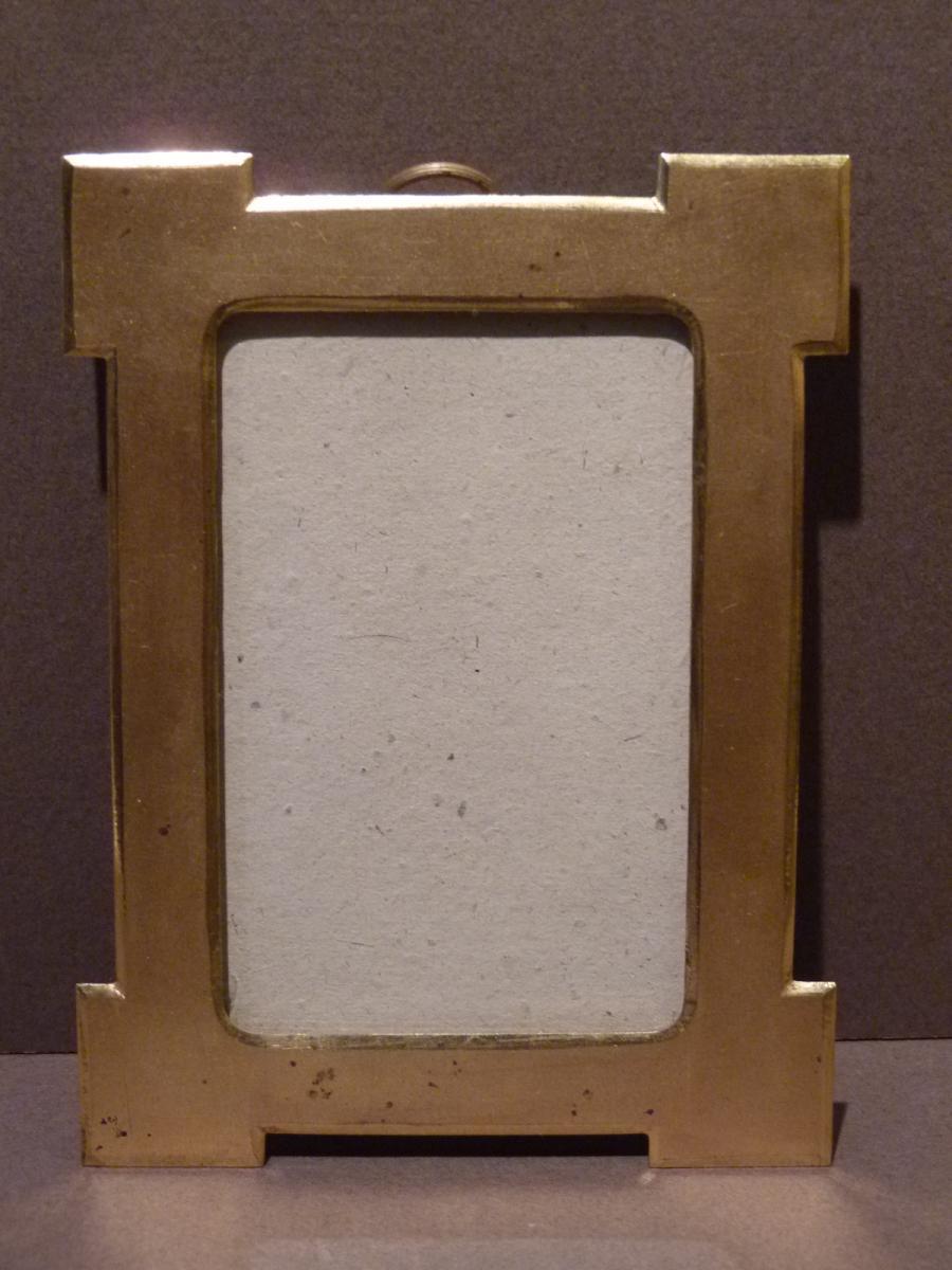 Photo Frame, Golden Brass, Late 19th Century