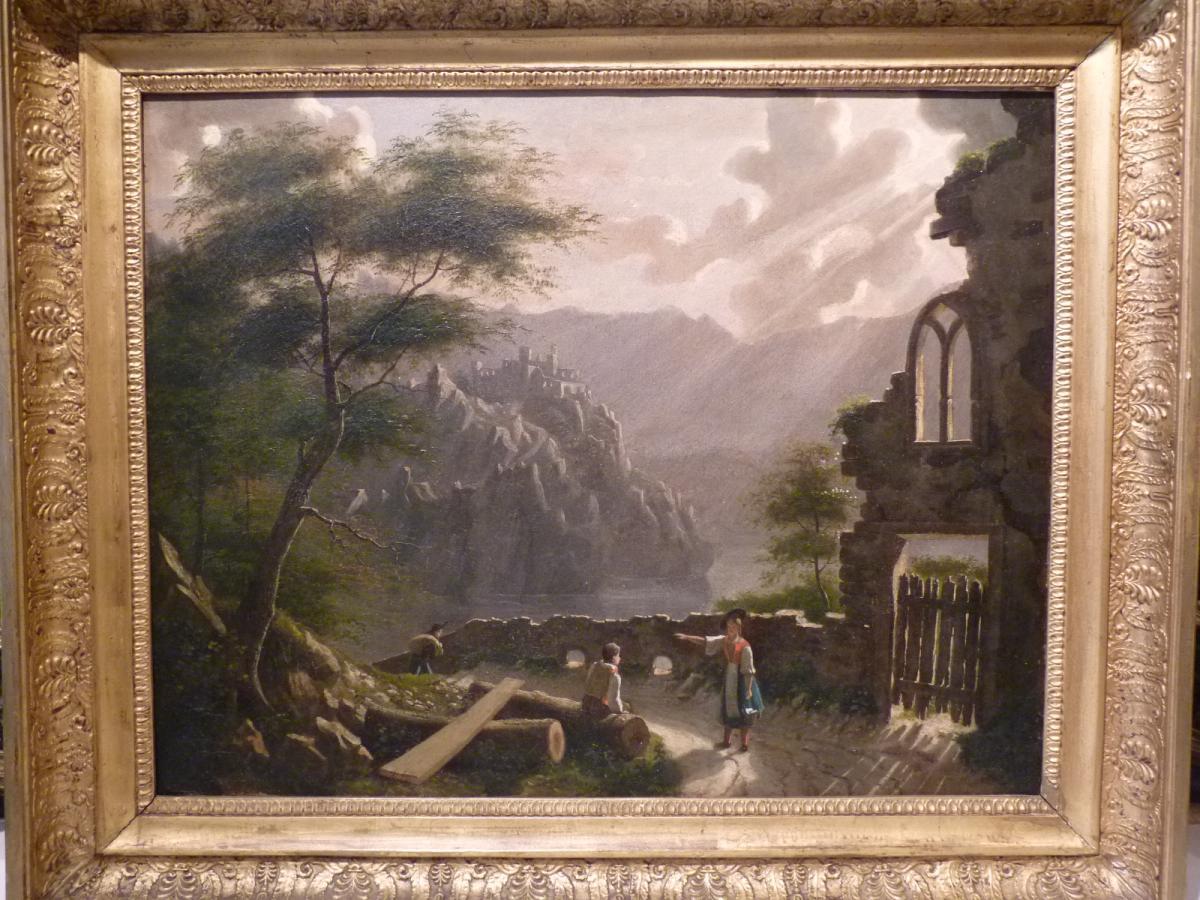 Paysage d'Orage, Ecole Française, Epoque Restauration