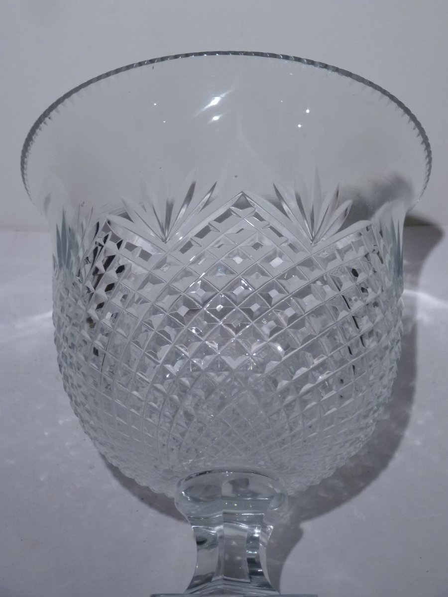 Pair Of Cut Crystal Cups, 20th Century-photo-3