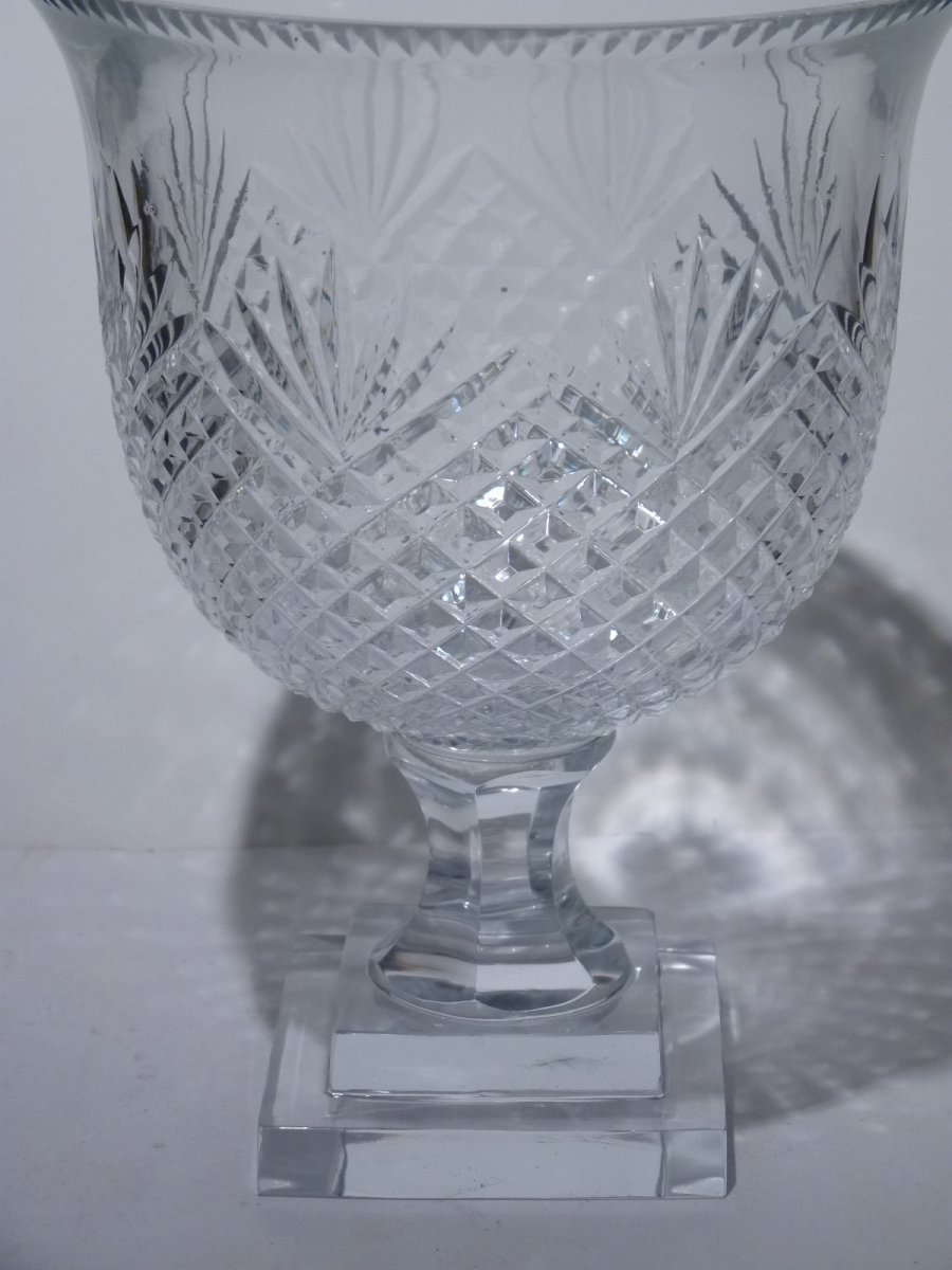 Pair Of Cut Crystal Cups, 20th Century-photo-4
