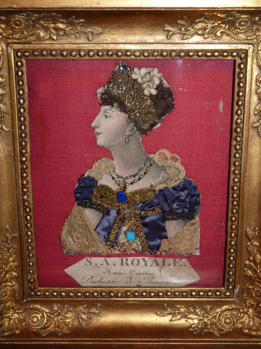 Duchesse De Berry, Gravure Habillée, époque Restauration