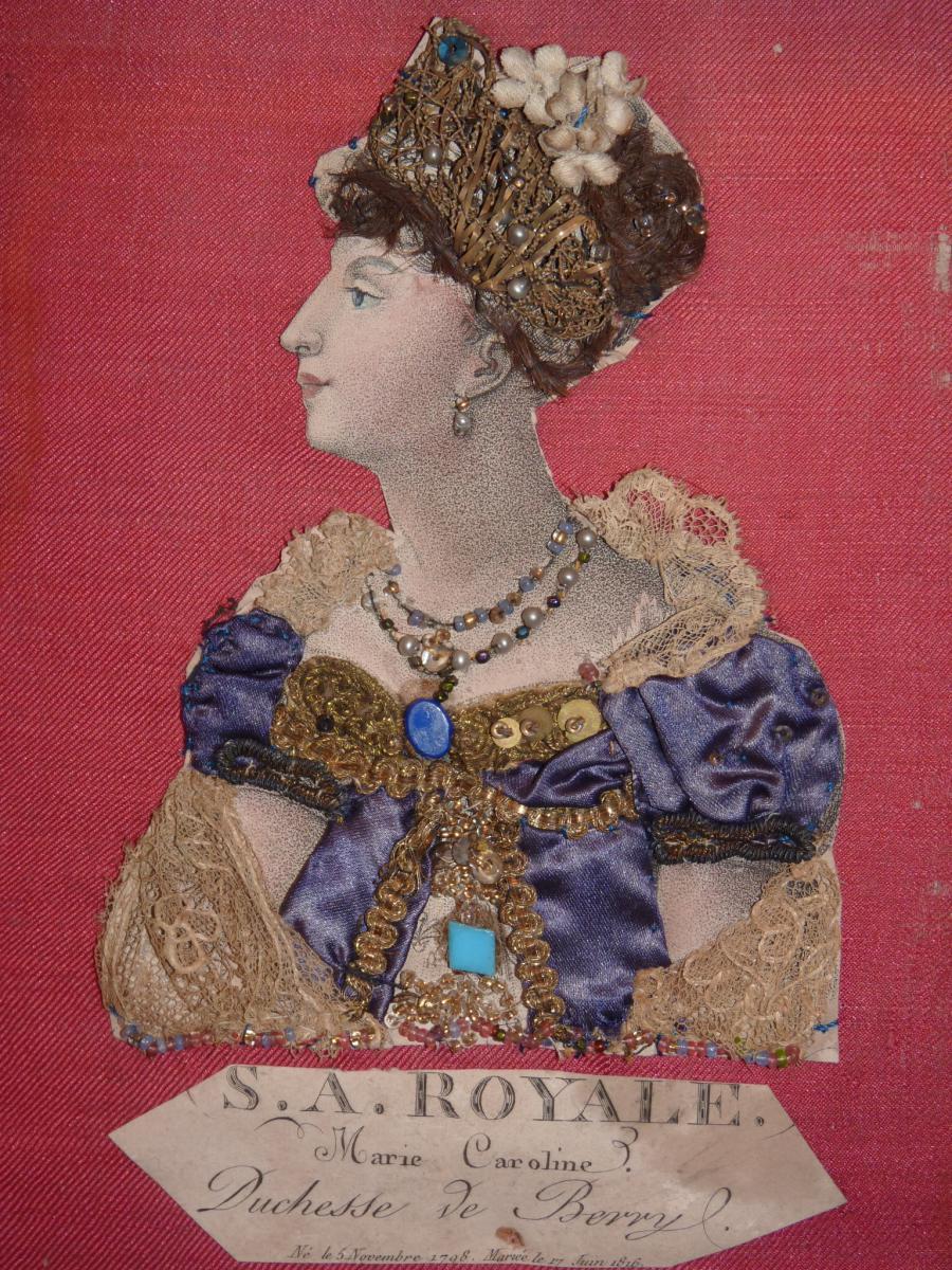 Duchesse De Berry, Gravure Habillée, époque Restauration-photo-2