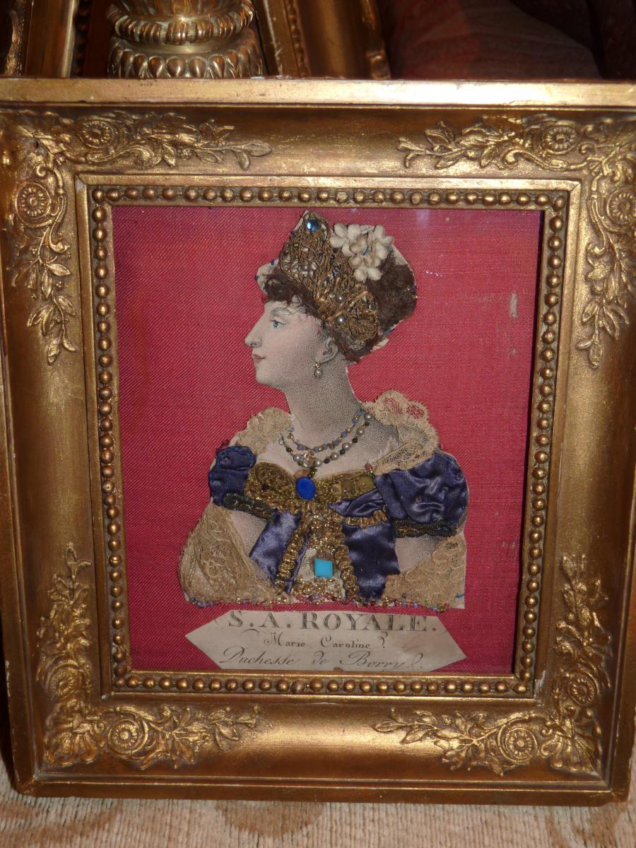 Duchesse De Berry, Gravure Habillée, époque Restauration-photo-3