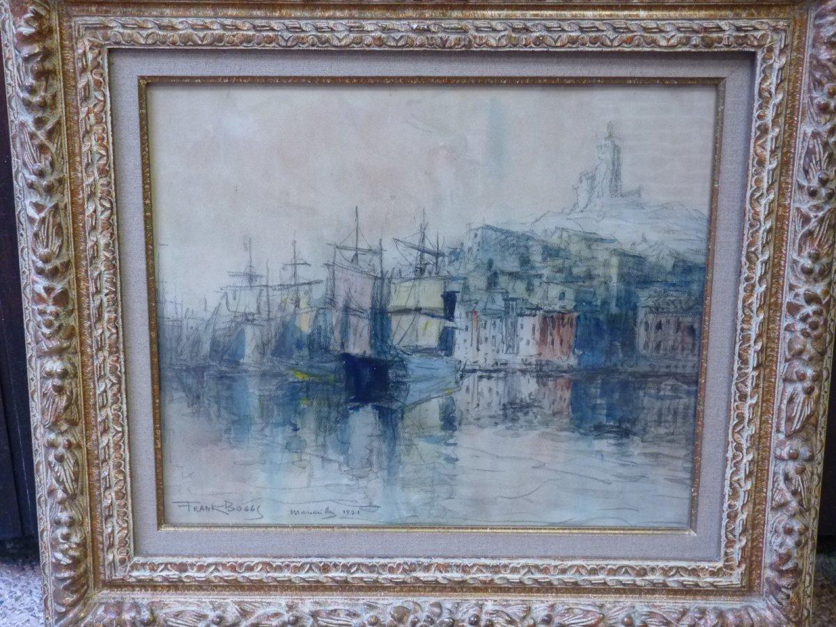 Frank Myers Boggs (1855-1926) Marseille Le Vieux Port, Watercolor, 1921