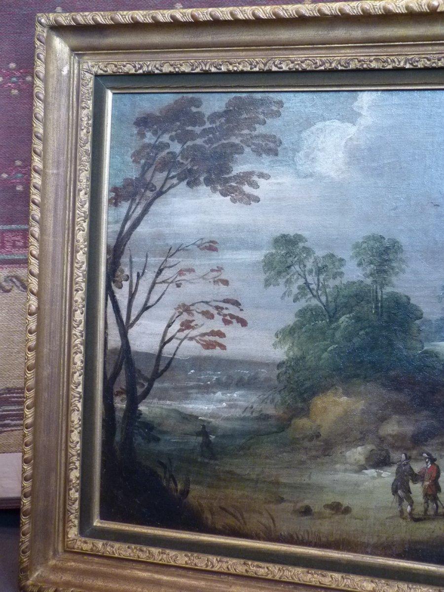 Flemish School 17th Century, Landscape At Castelet, Follower Of Isaac Van Oosten-photo-3