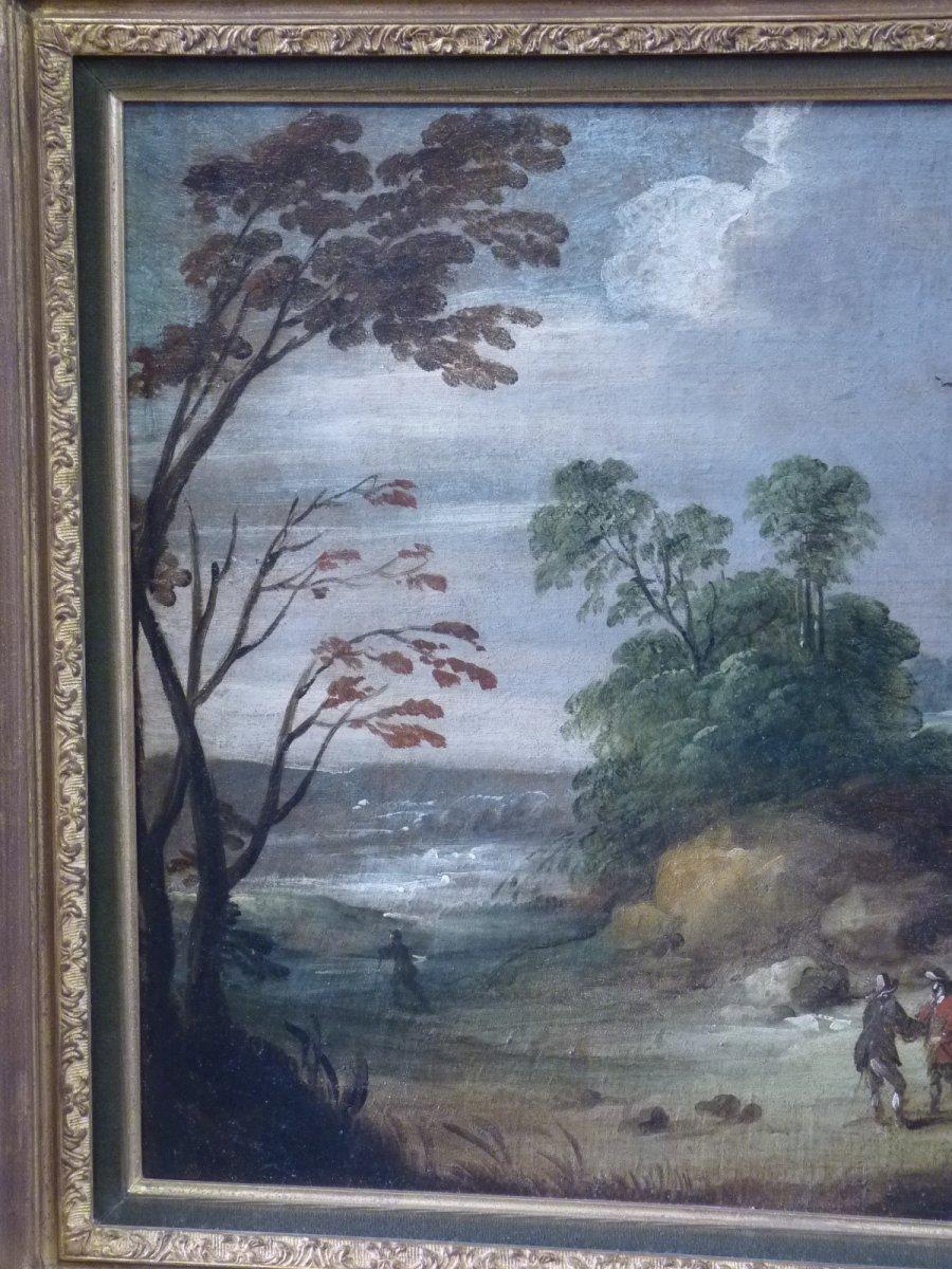 Flemish School 17th Century, Landscape At Castelet, Follower Of Isaac Van Oosten-photo-2