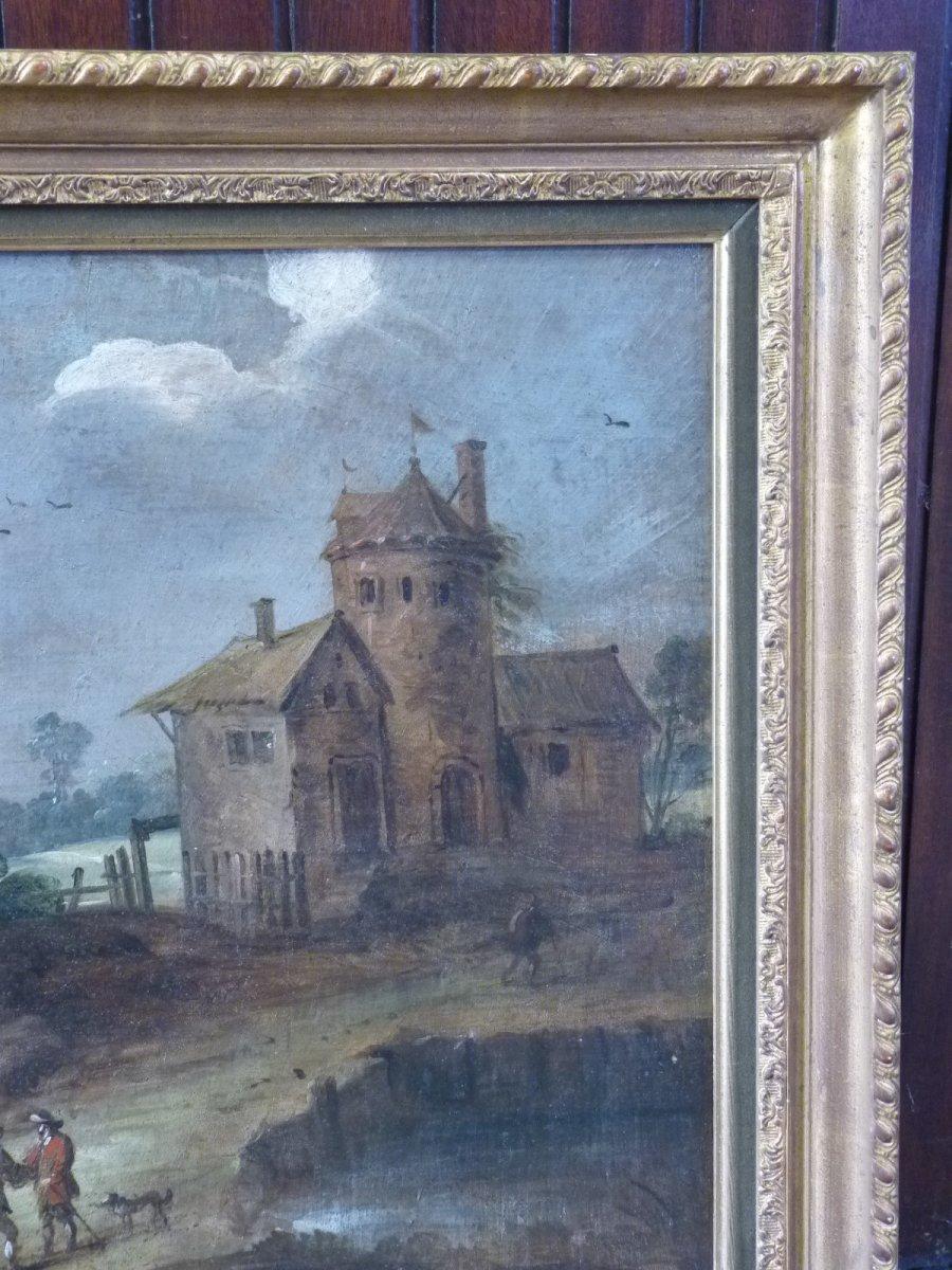 Flemish School 17th Century, Landscape At Castelet, Follower Of Isaac Van Oosten-photo-5