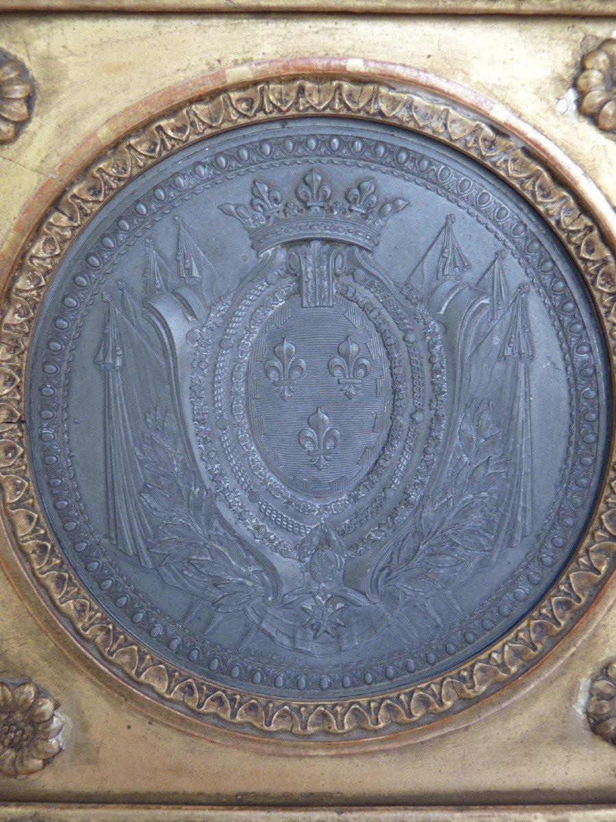 Armoiries Princières, Charles-Philippe de France futur Roi Charles X, Pierre Joseph Lorthior (1733-1813) Epoque Louis XVI -photo-1