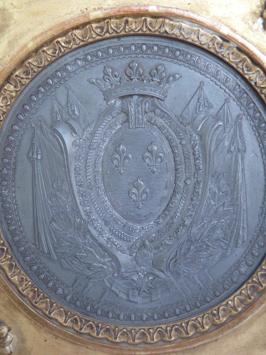 Armoiries Princières, Charles-Philippe de France futur Roi Charles X, Pierre Joseph Lorthior (1733-1813) Epoque Louis XVI -photo-2