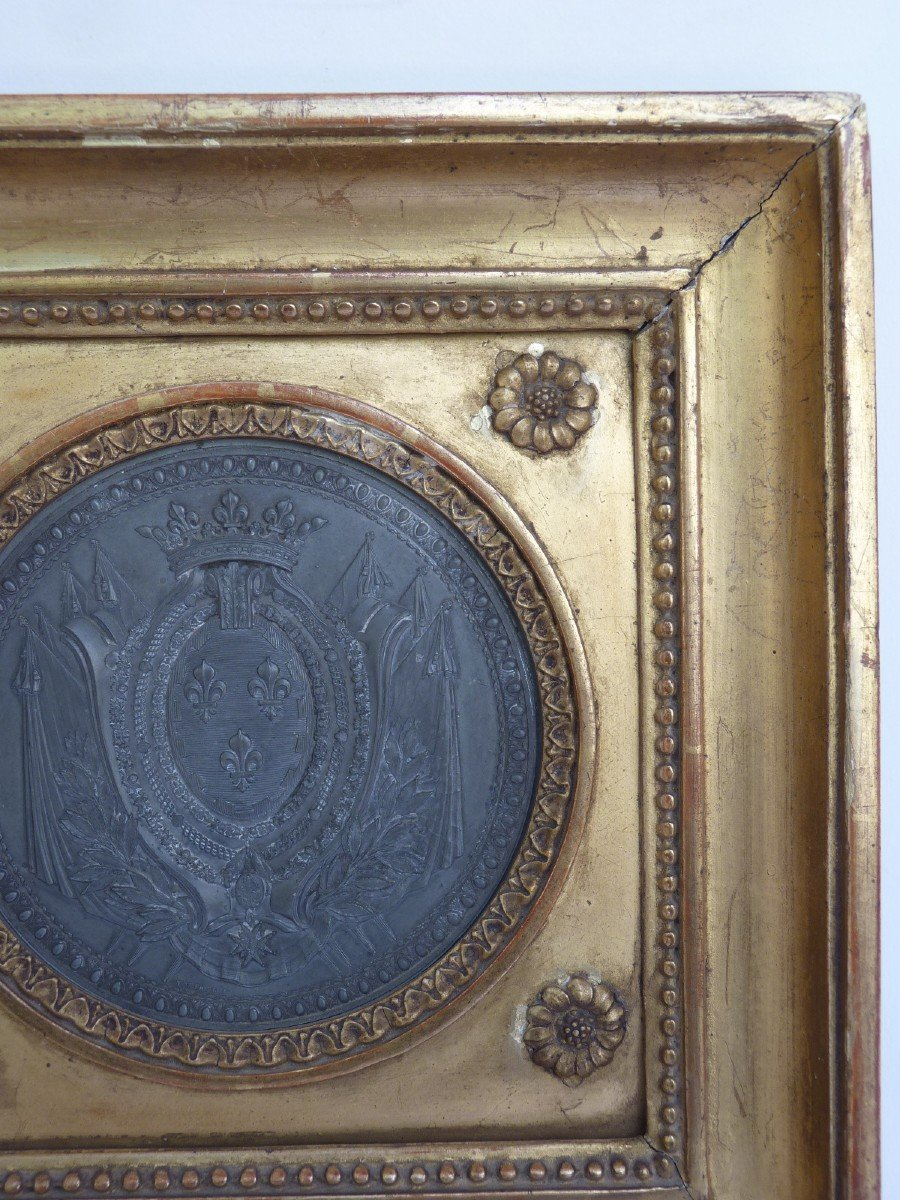 Armoiries Princières, Charles-Philippe de France futur Roi Charles X, Pierre Joseph Lorthior (1733-1813) Epoque Louis XVI -photo-6
