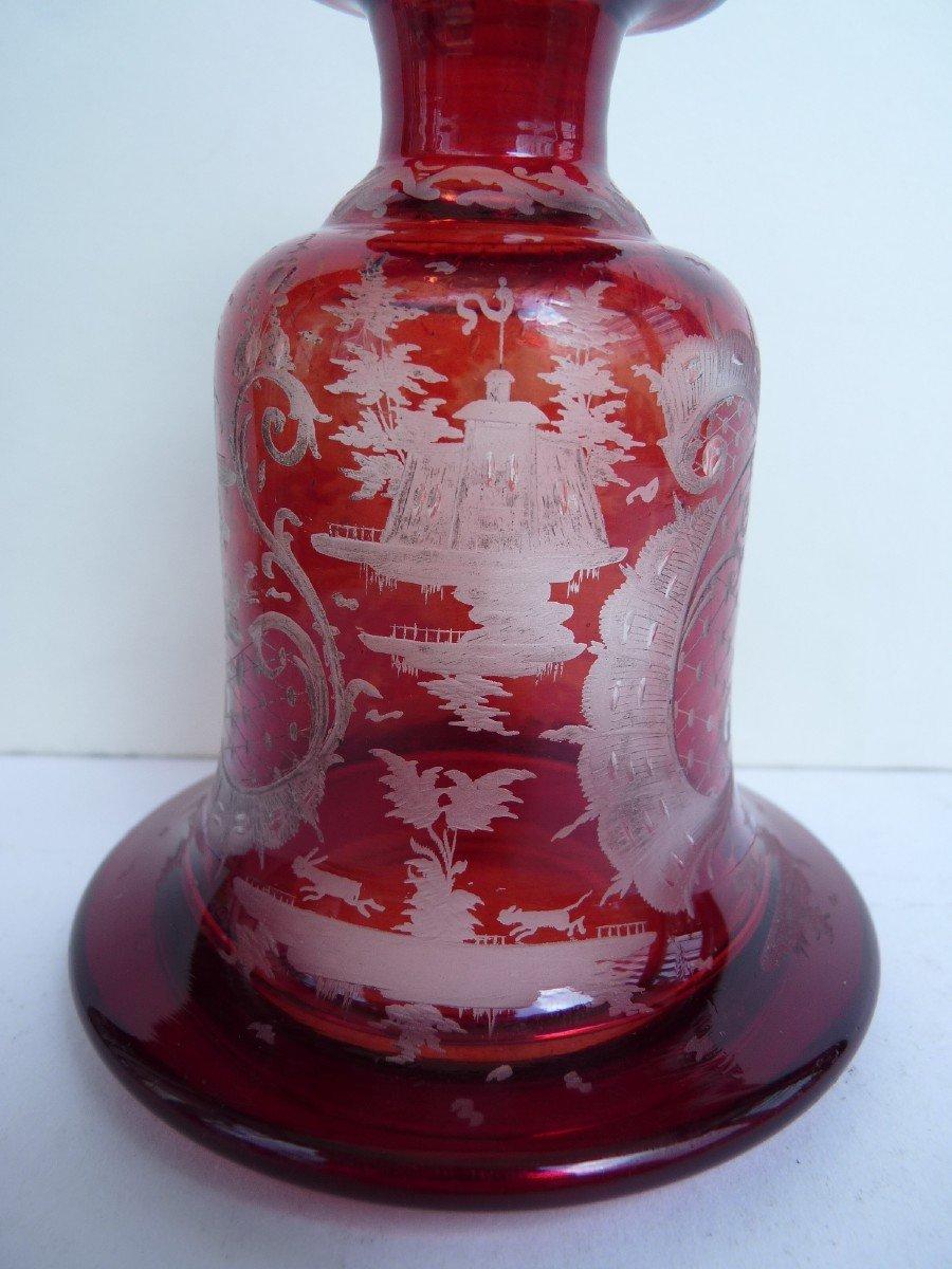 Carafe à Liqueur, Cristal de Bohème, 19e Siècle-photo-4