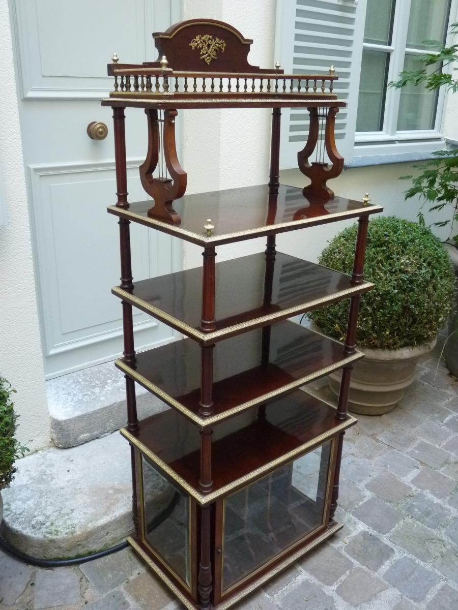 etag re musique acajou et bronze dor style louis xvi poque napol on iii autres meubles. Black Bedroom Furniture Sets. Home Design Ideas