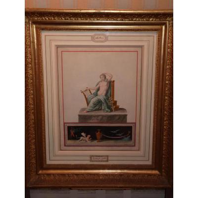 Michelangelo Maestri, Apollo, Watercolor Late 18th - Early 19th Century