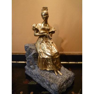 Young Woman , Bronze Romantic, Restoration Period