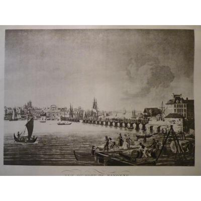 View Du Port De Bayonne, Engraving On Silk After Ambroise Louis Garneray