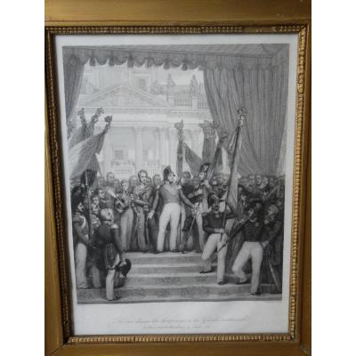 Joseph Desiré Court (1797-1865), Louis-philippe Gave The Flags To The National Guard