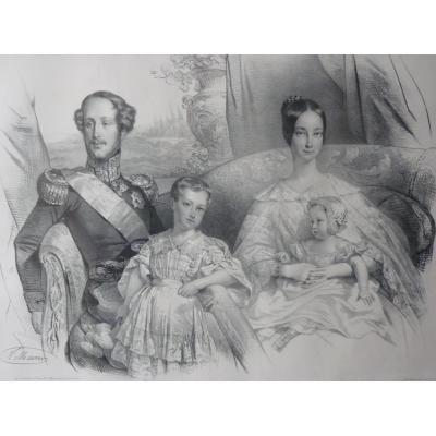 Nicolas Maurin (1799-1850), Duke Of Orléans And His Family, Louis-philippe