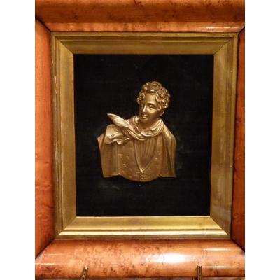 Lord Byron Portrait Gilt Bronze, 1830