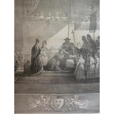 Rite Of King Charles X, Silk Scarf, Restoration Period