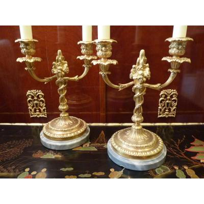 Small Pair Of Candelabra, Louis XVI, Napoleon III