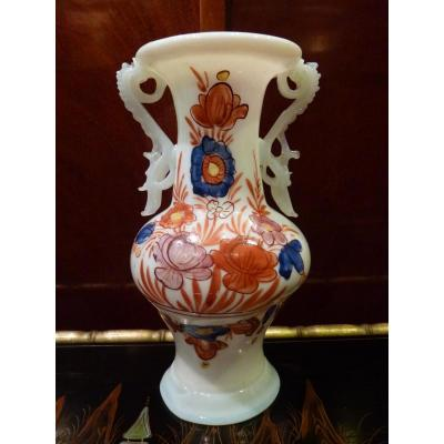 Flower Decor Vase, Opaline, Germany 18th Century