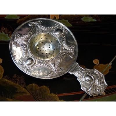 Passe-thé en Argent Massif, Style Louis XVI, 19e Siècle