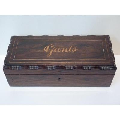Gloves Box, Rosewood, Louis-philippe Period