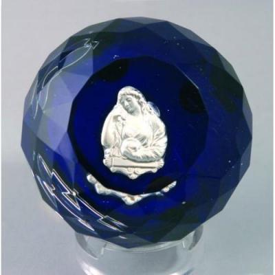 Presse Papiers En Cristal De Baccarat, Cristallo-cérame, Milieu XIXème Siècle