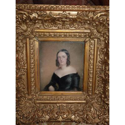 Miniature On Marble Portrait Lady, When Louis-philippe