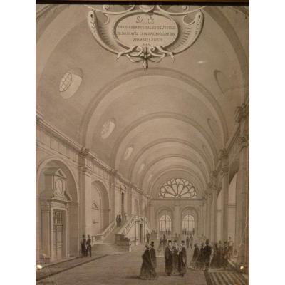 Lucien Faure-Dujarric, Salle Des Pas Perdus Du Palais De Justice De Paris, 1864