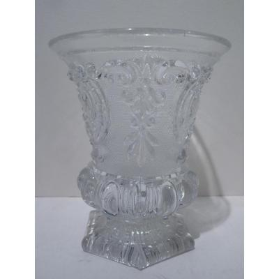 Baccarat, Goblet Medicis, Crystal Molded, Louis Philippe Period