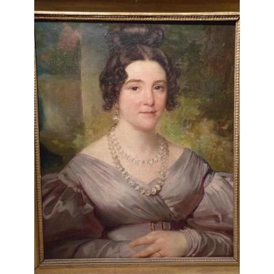 Portrait d'une Elegante, Epoque Restauration
