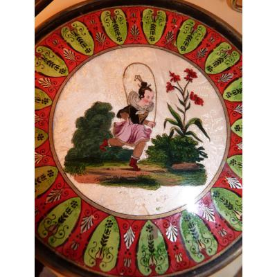 Candy Box, Fixed Under Glass, Little Girl Playing Rope, Restoration Period