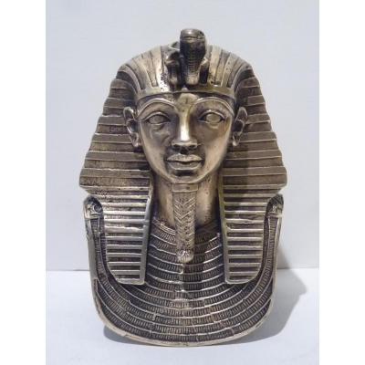 Buste du Pharaon Toutankhamon, Bronze, 20e Siècle