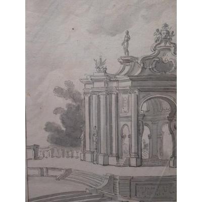 Tempietto Baroque, Dessin, 18ème Siècle