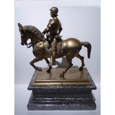 d'après Andréa Verrochio, Statue Equestre du Colleone, 19e Siècle