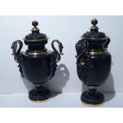 Paire de Cassolettes, Style Renaissance, Epoque Napoleon III
